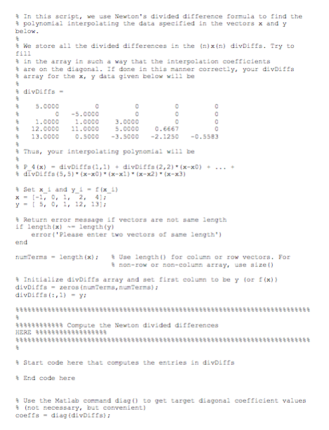 Solved: 3  Matlab: Write A Working MATLAB Code That Comput