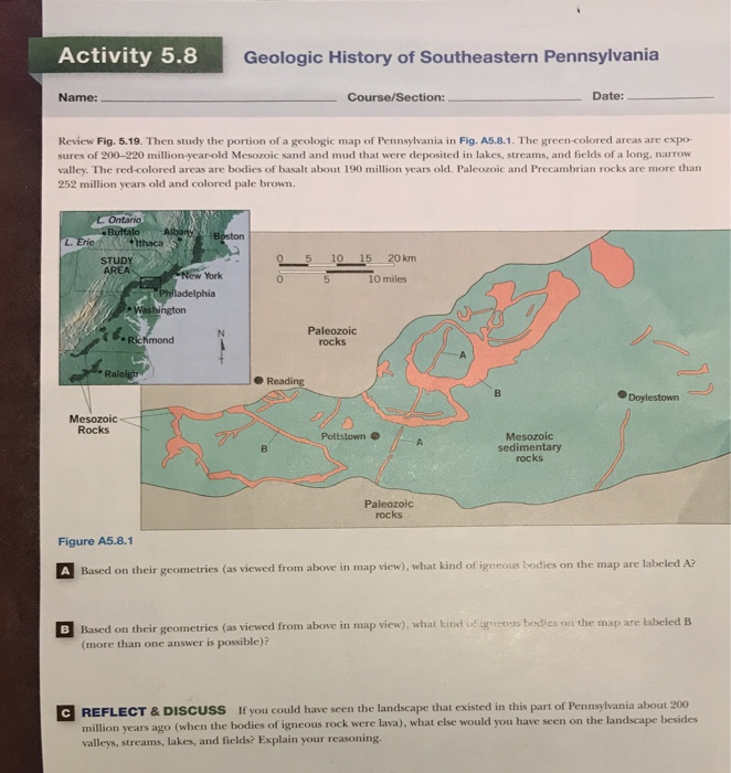 Solved activity 58g geologic history of southeastern pen activity 58g geologic history of southeastern pennsylvania name coursesection date gumiabroncs Images