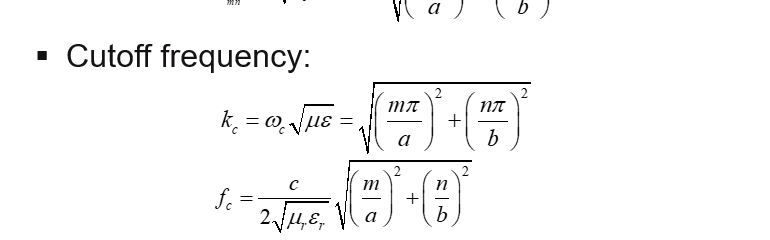 Solved: Calculate The Cutoff Frequency For The First Four