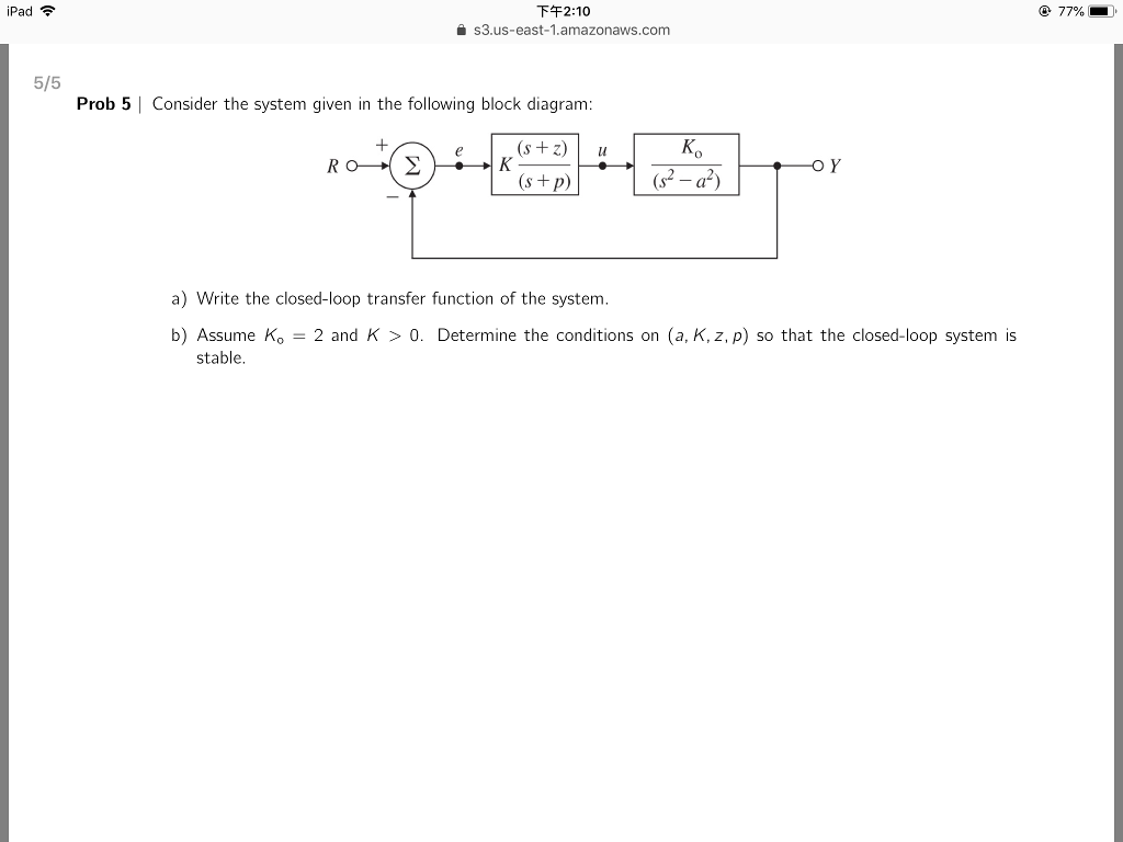 210 S3us East 1amazonawscom Ipad 77 5 2 Block Diagram Question Prob Consider The System Given In Follow