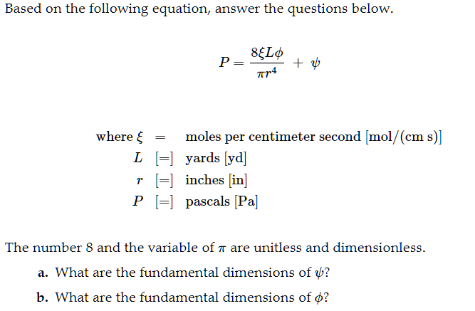 Based On The Following Equation Answer The Questions Below Tr4 Where  Ce Be Moles Per Centimeter