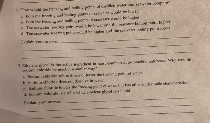 how to lower the freezing point of water