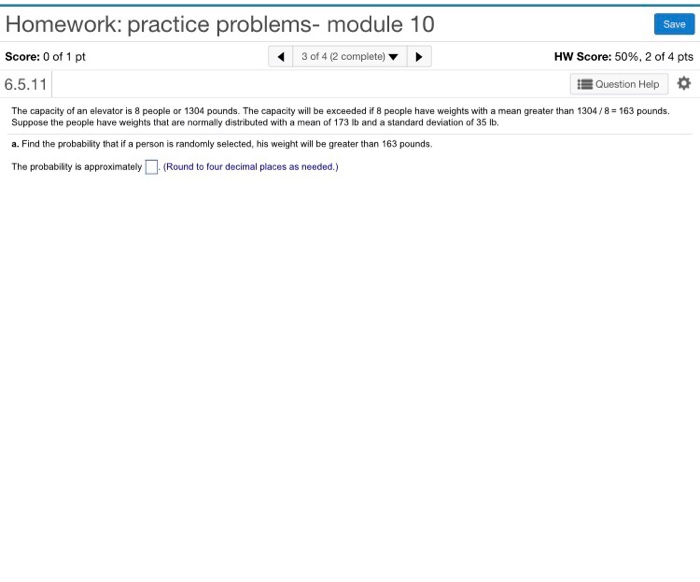 Solved: Homework: Practice Problems- Module 10 Score: 0 Of