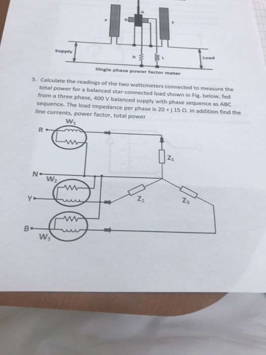 load single phase power factor meter 5 calculate