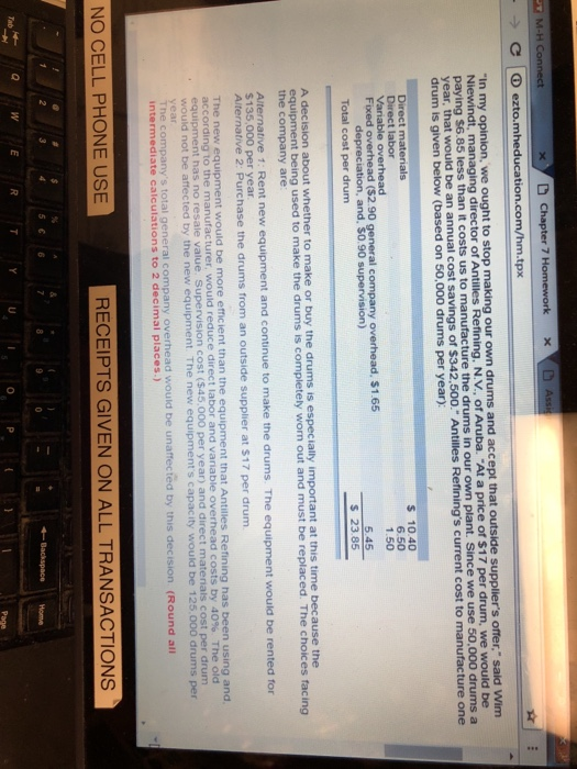 Accounting archive november 29 2017 chegg chapter 7 c eztoeducationhmx in my fandeluxe Images
