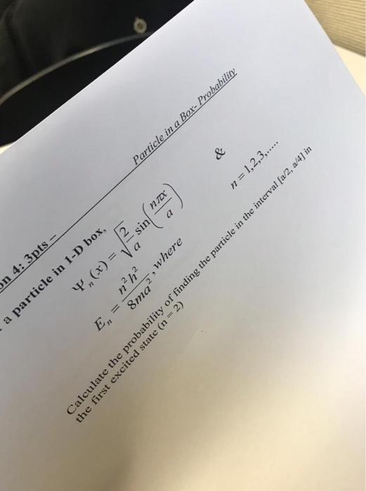 Solved: Cle Of M S M Is Ing In 1-D Box Betw On  Een X Is D