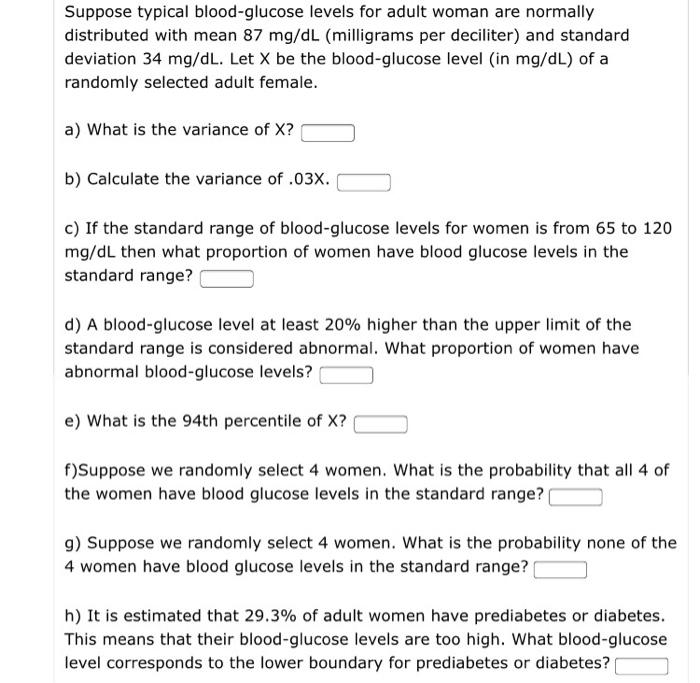 Normal Range of Blood Glucose Level for Women LIVESTRONG. COM