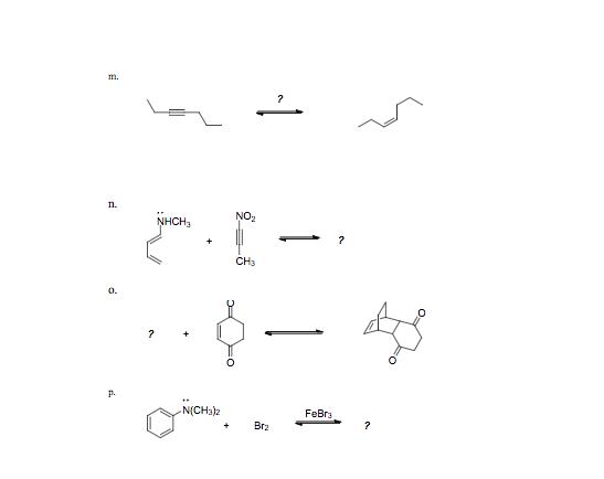In. NO2 NHCH3 CH3 0. 0 р. N(CH3)2 FeBra +Br2