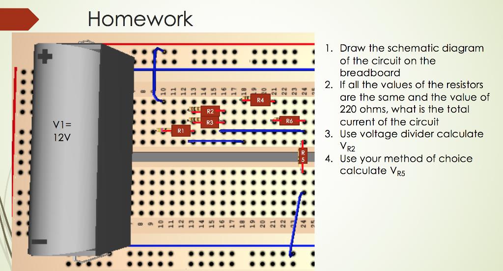 Fabulous Solved Homework 1 Draw The Schematic Diagram Breadboard Wiring 101 Cranwise Assnl