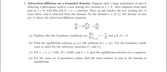Solved: 4  Advection-diffusion On A Bounded Domain: Suppos