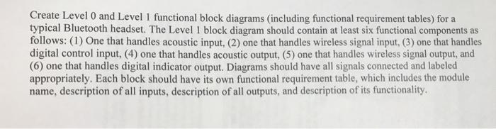 create level 0 and level 1 functional block diagra chegg com rh chegg com