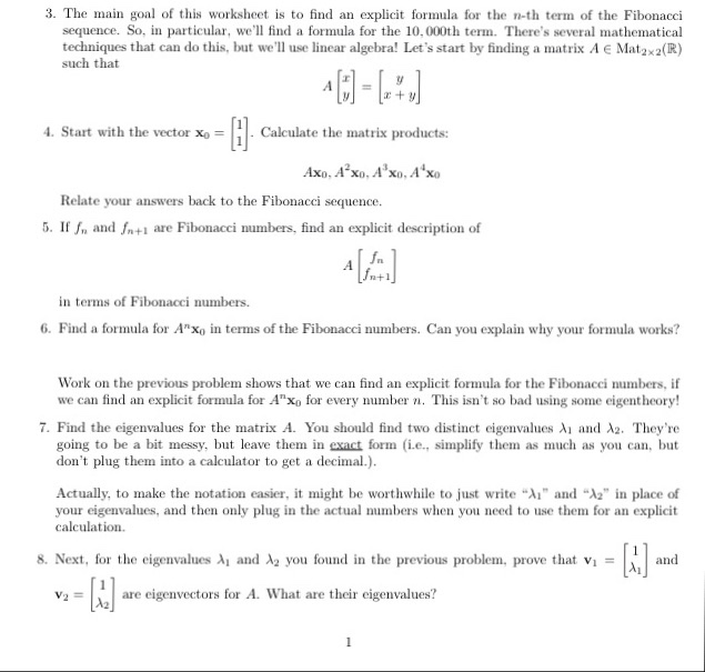 Solved: 3  The Main Goal Of This Worksheet Is To Find An E