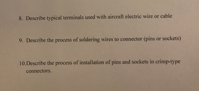 Solved: 8  Describe Typical Terminals Used With Aircraft E