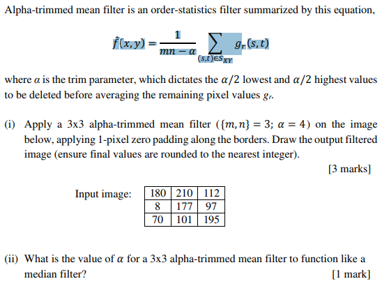 Alpha-trimmed Mean Filter Is An Order-statistics F