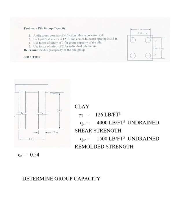 Solved: Problem Pile Group Capacity 336 25h 1  A Pile Grou