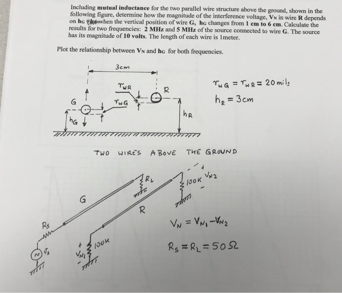 Solved: Including Mutual Inductance For The Two Parallel W ...