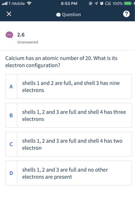 Solved I Have The Electron Configuration Is 1s2 2s2 2p6 3 Chegg Com