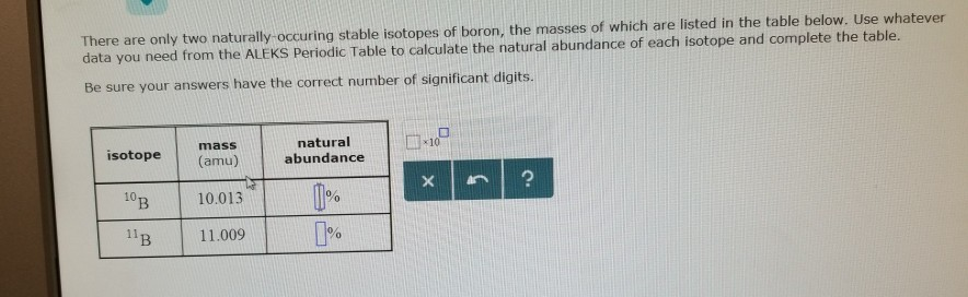 Solved There Are Only Two Naturally Occuring Stable Isoto