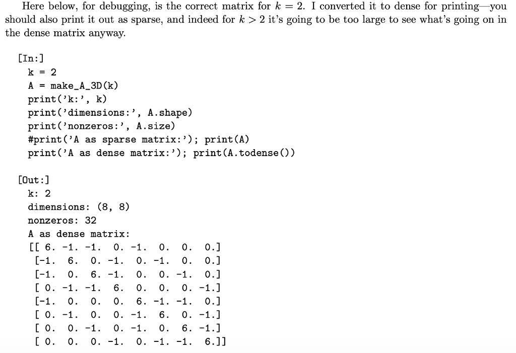 Code For Make_A(k): Def Make_A(k):