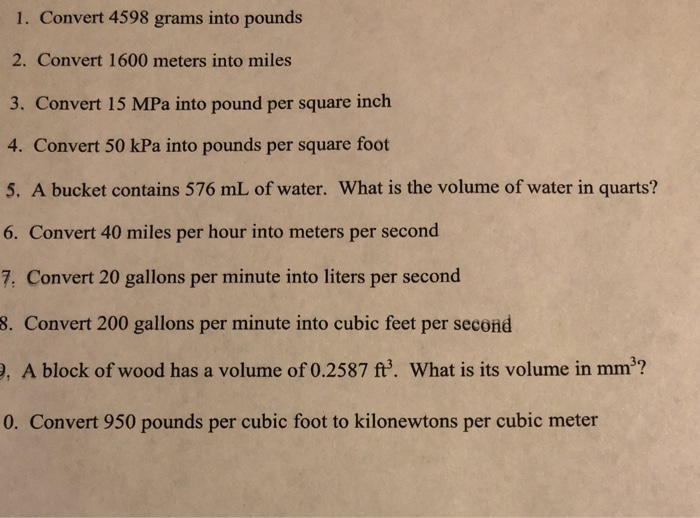 Convert 4598 Grams Into Pounds  Meters Into Miles 3