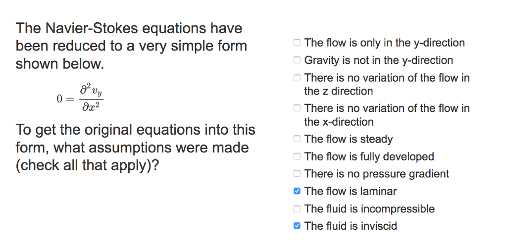 solved the navier stokes equations have been reduced to a