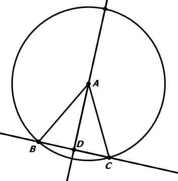 Solved In The Diagram Below Circle A Has A Diameter Of 3
