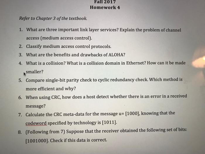 chapter 3 4 homework questions