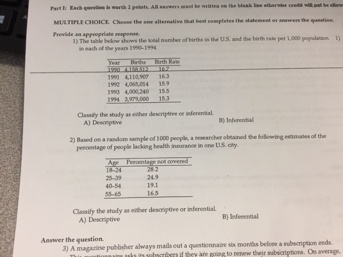 Statistics and probability archive may 10 2017 chegg part i each question is worth 2 points all answers must be written on fandeluxe Image collections
