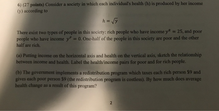 Solved: It Is A Health Econ Question  I Got Part A And B B