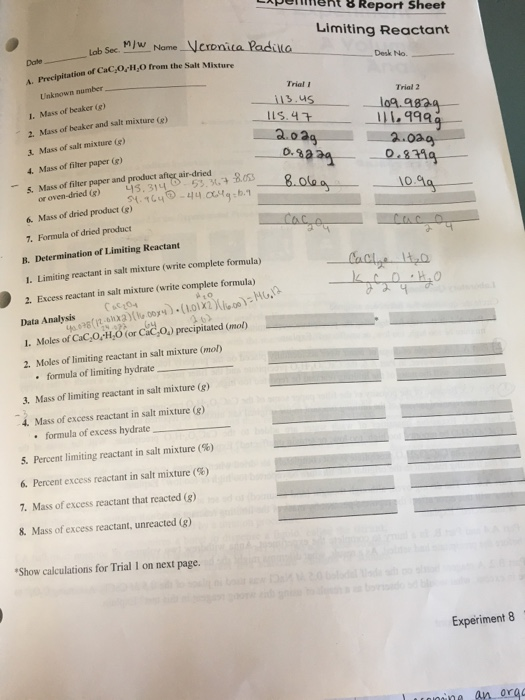 how to write a data analysis for a lab report