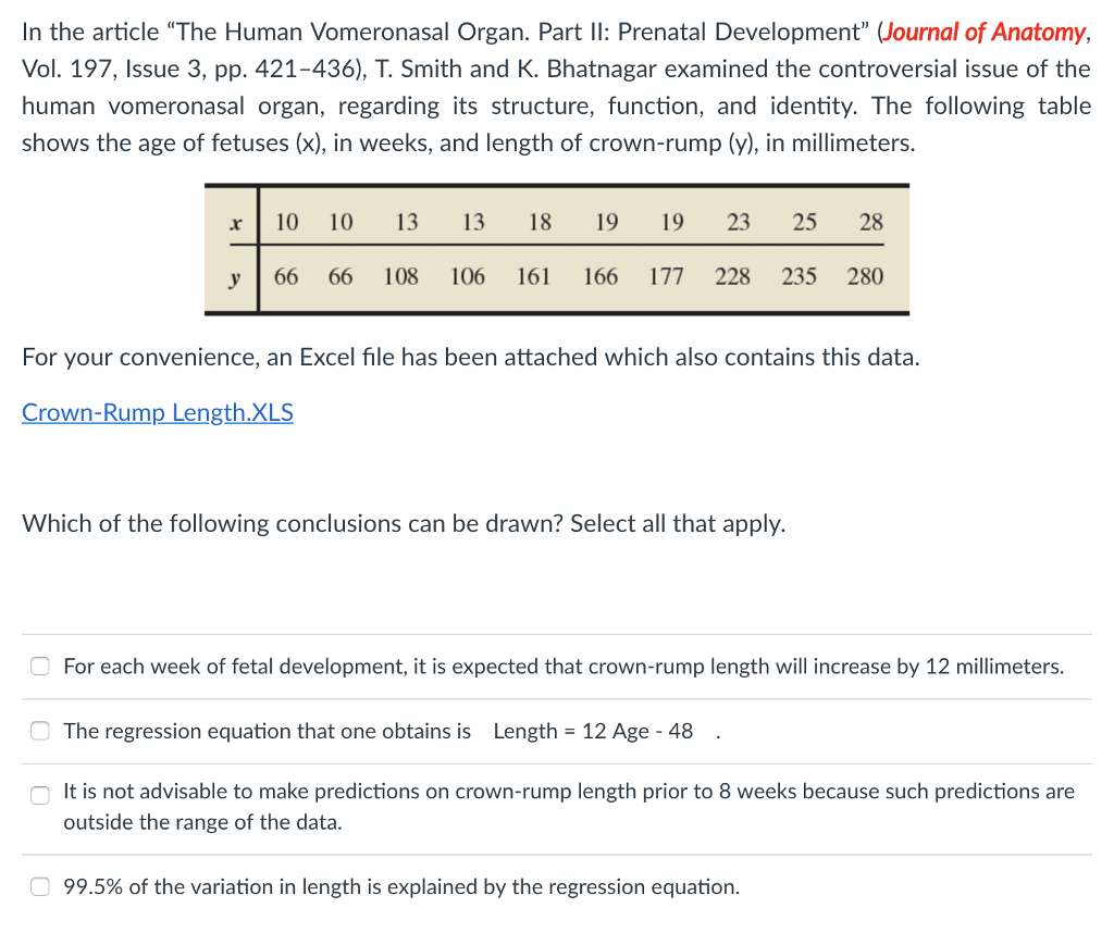 Solved In The Article The Human Vomeronasal Organ Part