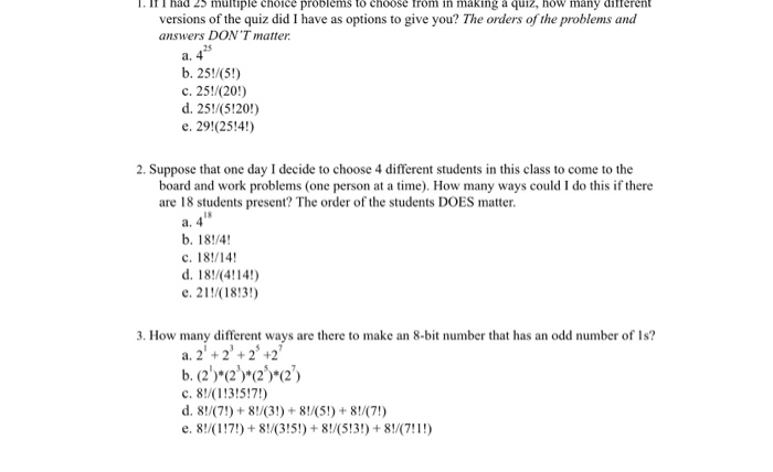 Solved:  IH T Had 23 Multiple Choice Problems To Choose Tr