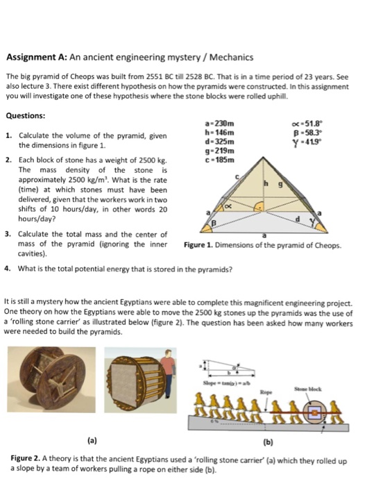 Solved: An Ancient Engineering Mystery/Mechanics The Big P