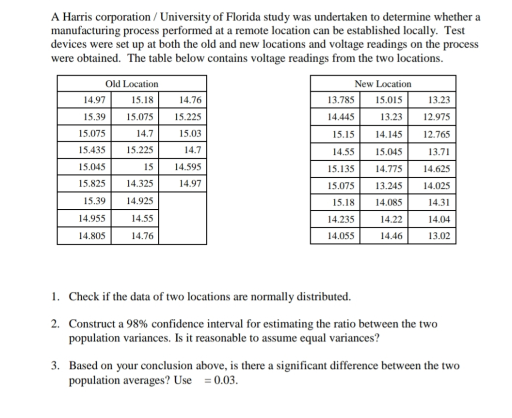 Solved: A Harris Corporation / University Of Florida Study