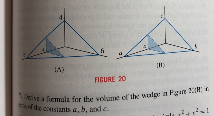Solved: 4 FIGURE 20 A Formula For The Volume Of The Wedge