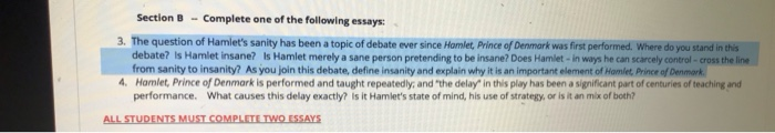 is hamlet sane or insane