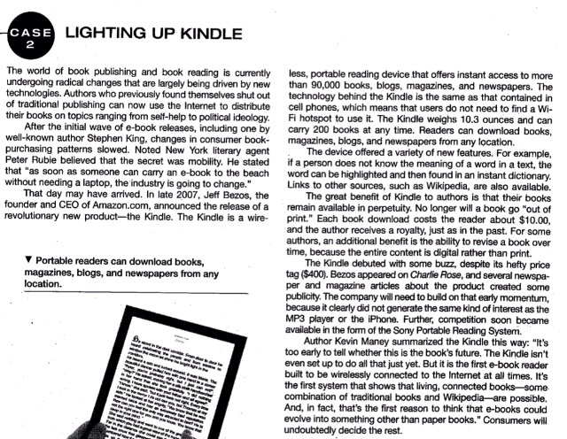 Solved: CASE LIGHTING UP KINDLE 2 The World Of Book Publis