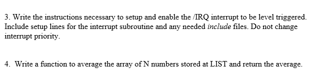 Solved: 3  Write The Instructions Necessary To Setup And E