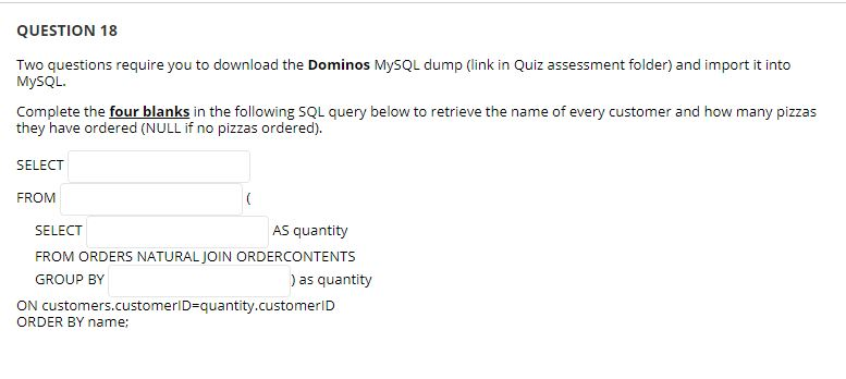 QUESTION 18 Two Questions Require You To Download       Chegg com