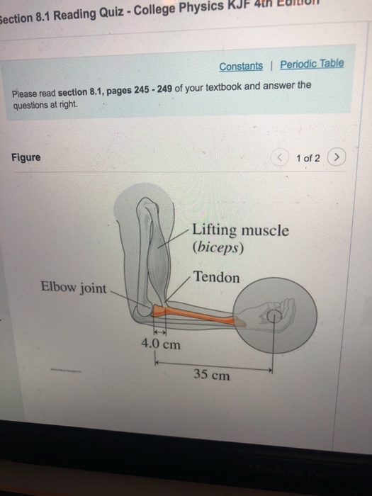 Solved: KJF 4h EULI Ection 8 1 Reading Quiz - College Phys