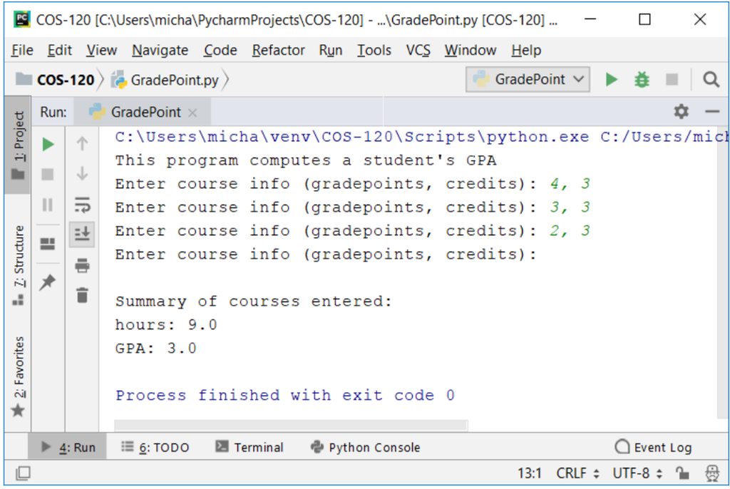 Solved: Python) Modify The Student Class (student py) From