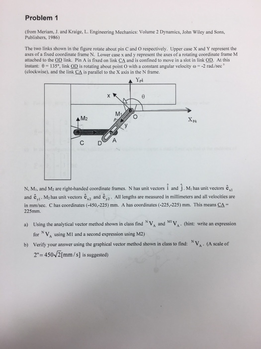 Solved: The Two Links Shown In The Figure Rotate About Pin ...