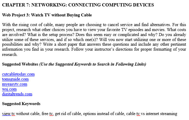 CHAPTER 7: NETWORKING: CONNECTING COMPUTING DEVICE    | Chegg com