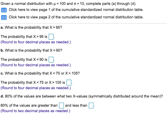 Solved: Given A Normal Distribution With μ-100 And σ-10, C