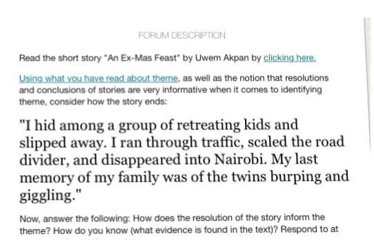 FORUM DESCRIPTION Read The Short Story An Ex-Mas F    | Chegg com