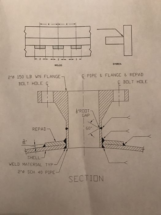 Solved 1 Use The Weld Cross Sections And Plan View To De