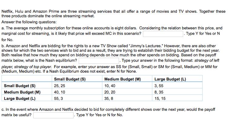 Netflix, Hulu And Amazon Prime Are Three Streaming