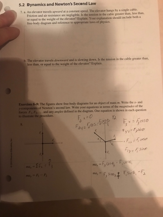 5.2 Dynamics And Newton's Second Law 7. A. An Elev ...