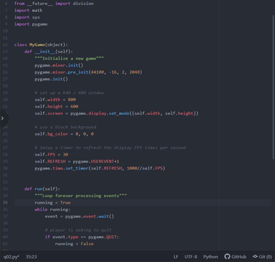Python Pygame Modify The Sample Code So That The B
