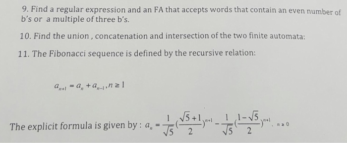 Solved: Find A Regular Expression And An FA That Accepts W